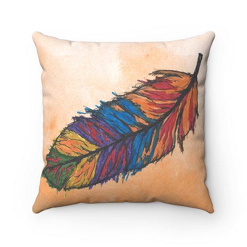 Feather rainbow native bird  Pillow