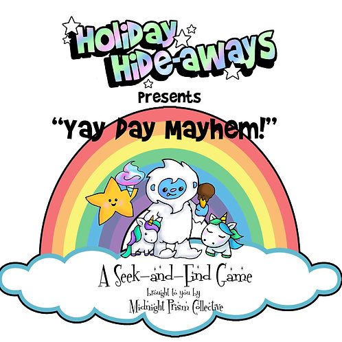 Holiday Hideaways - Yay Day Mayhem seek & find printable download game
