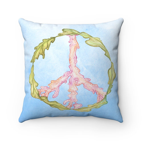 Seaweed Peace Sign ocean coral marine water Pillow