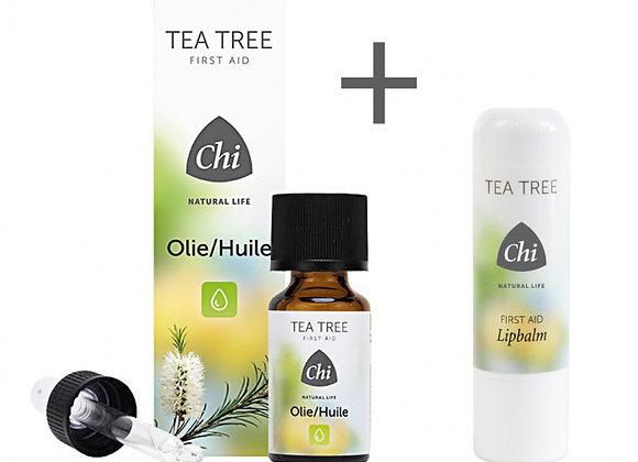 Actie! Nu gratis Tea Tree Lipbalm (t.w.v. 4,95) bij aankoop van Tea Tree Olie