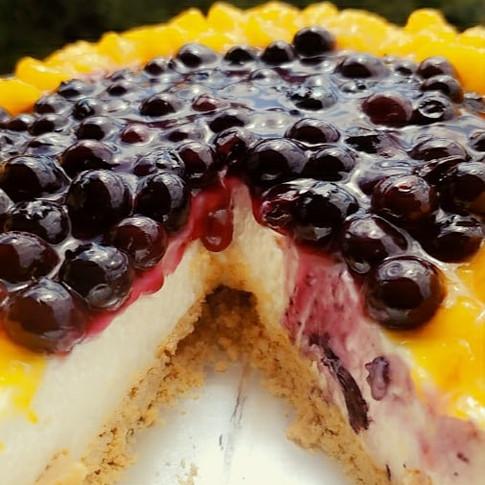 Blueberry Mango Cheesecake