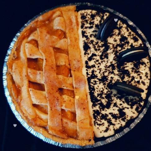 Peach Cobbler/Oreo Cheesecake