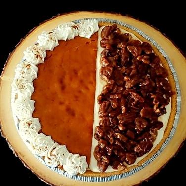 Pumpkin/Pecan Cheesecake