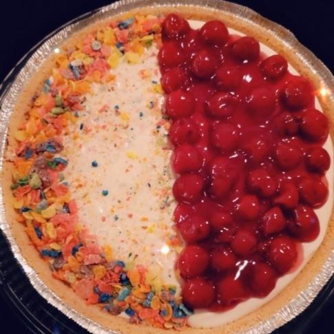 Fruity Pebbles/Cherry Cheesecake