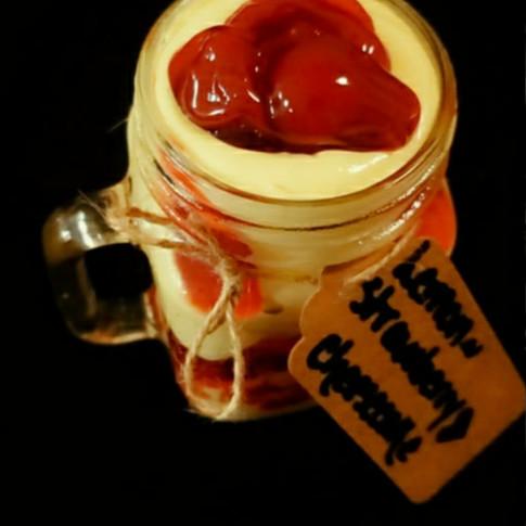Lemon Cheesecake w/ Strawberry Delight-Jar