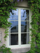 Double glazed french style pitch pine casement windows, Midsomer Norton
