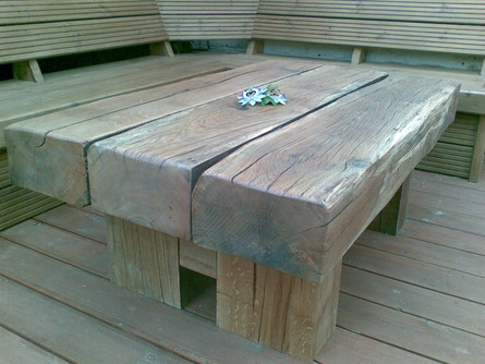 Rustic patio table, St. Werburghs