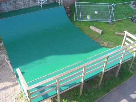 Skateboard mini ramp for children's park in Easton, Bristol