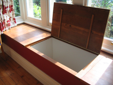 Window seat storage, Chew Magna