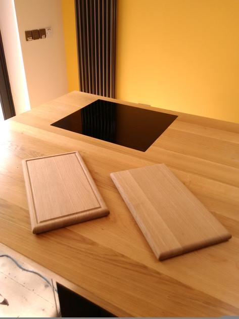 Oak chopping boards, made to match kitchen, Bristol