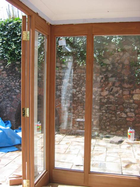 Hardwood trifold doors, Redland, Bristol