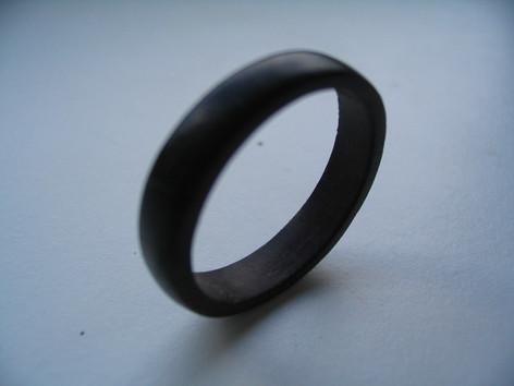 Handmade ebony engagement ring, Welton, Midsomer Norton