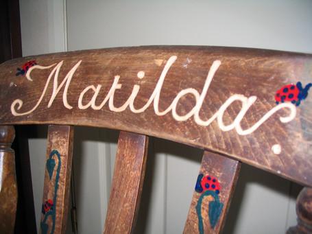 Hand carved child's chair, Easton, Bristol