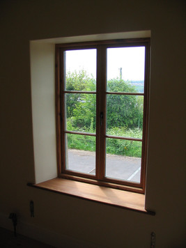 Handmade reclaimed pitch pine casement window, Welton BA3
