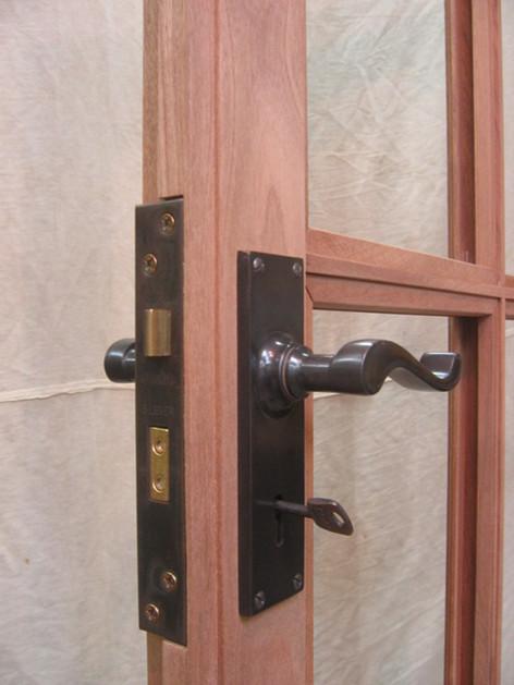Handmade hardwood door