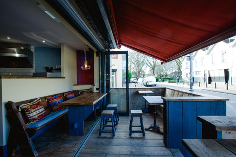 Outdoor terrace and furniture, Biblos, St. Werburghs, Bristol