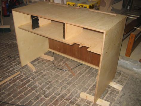 Handmade plywood DJ table, Midsomer Norton