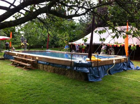 Hay bale swimming pool 5m x 10m Midsomer Norton, Somerset