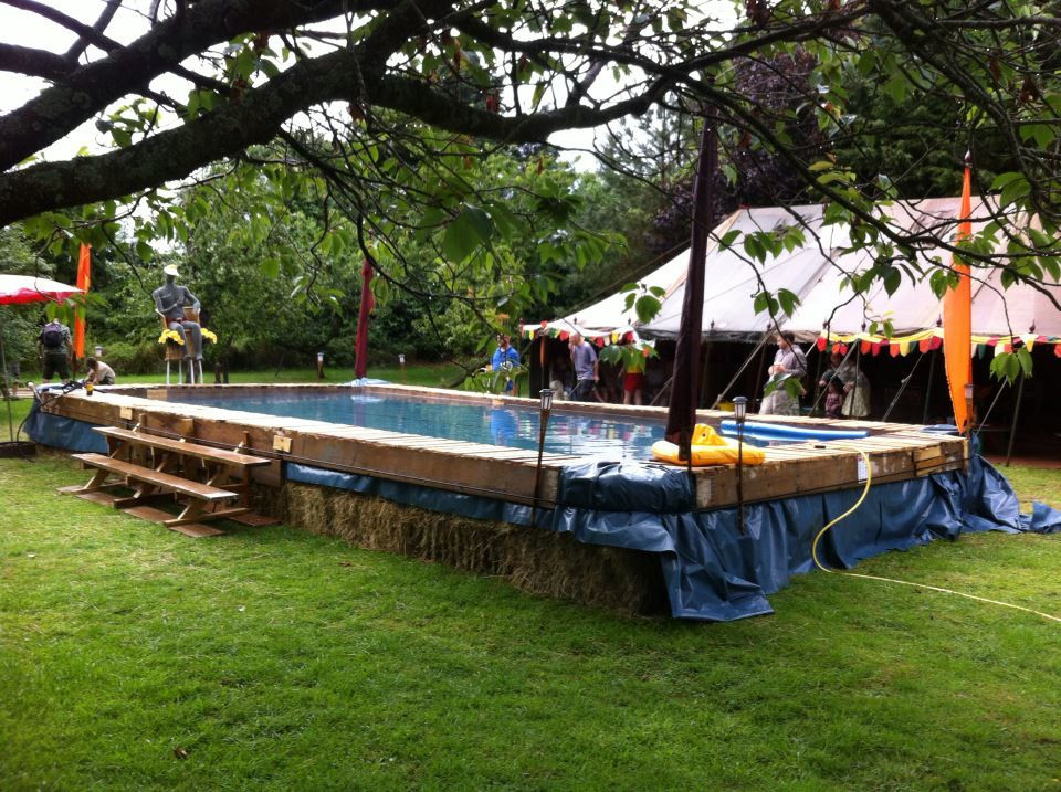 Creative projects i colin hackney woodwork specialist i - Redneck swimming pool with hay bales ...