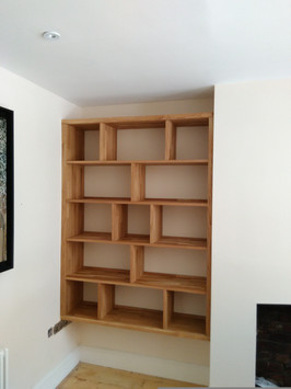 Solid oak record storage, St. Andrews, Bristol BS7
