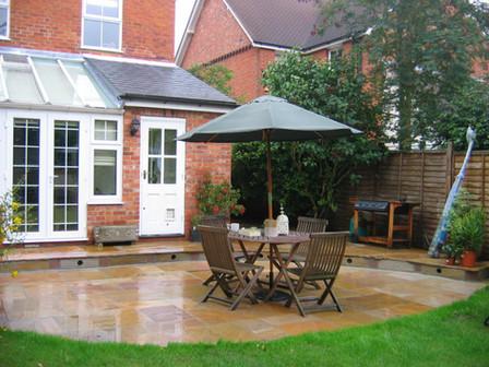 Indian sandstone patio, Surrey