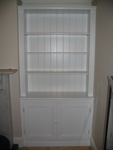 Period bookcase with storage in period property in St. Andrews, Bristol BS6