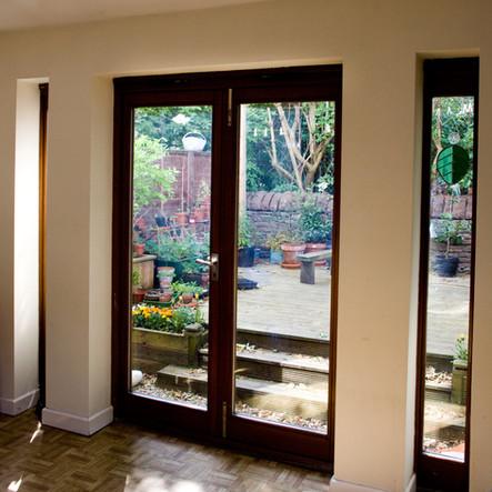 Double glazed hardwood patio doors, Bristol