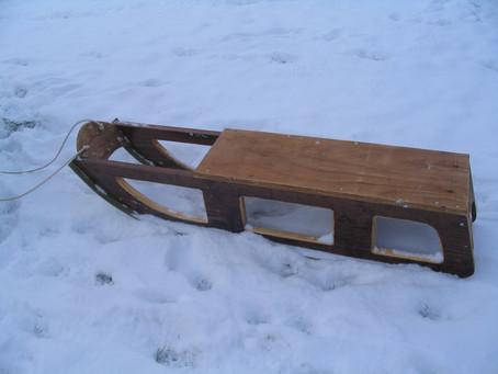 Handmade wooden sledge, Welton, Midsomer Norton