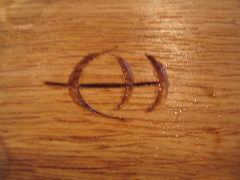 Colin Hackney Woodwork Specialist furniture makers mark, Midsomer Norton