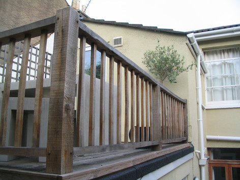Oak balustrades for roof terrace, Montpelier, Bristol
