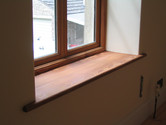 Double glazed reclaimed pitch pine window and sill, Midsomer Norton BA3