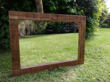 Mirror handmade from reclaimed timber, Bath