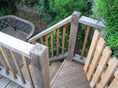 Traditionally joined oak balustrades, Montpelier, Bristol