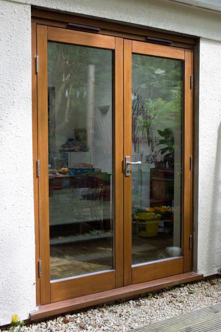 Double glazed hardwood patio doors, St. Werburghs, Bristol