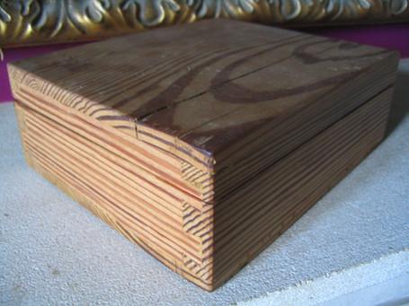 Traditionally made pitch pine box, Radstock