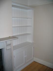 Fitted period bookcase, Cotham, Bristol
