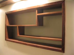 Recessed light box display cabinet, Bristol