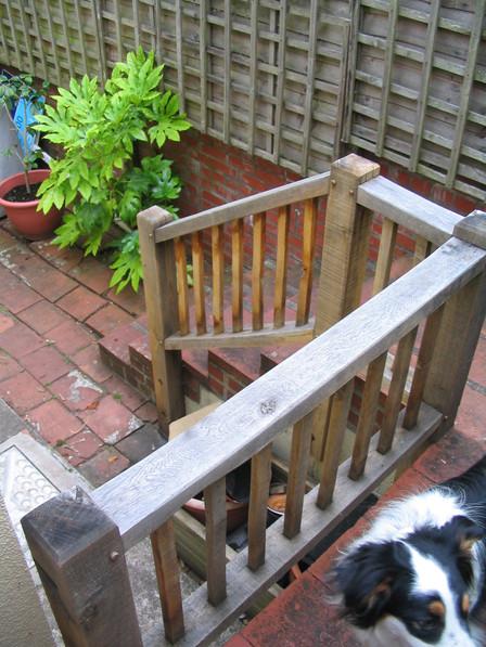 Hand joined oak balustrade, Midsomer Norton