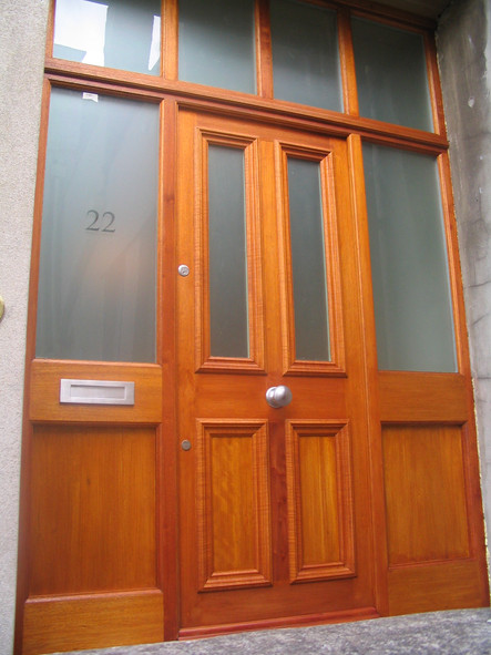 New hardwood entrance door, Clifton Bristol
