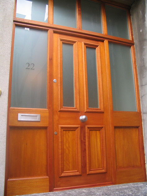 New hardwood entrance door, Clifton Bristol