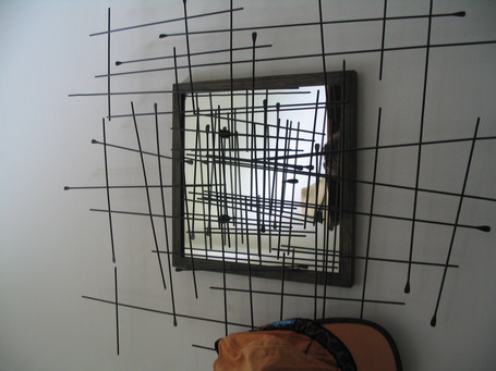 Mirrored hat stand made from reclaimed materials, Bristol