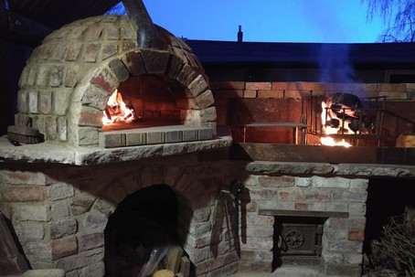 Pizza oven and Argentinian BBQ made from reclaimed materials - Welton, Midsomer Norton, Nr. Bath