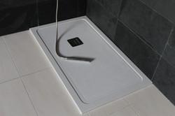 Plato de ducha micromarmol blanco