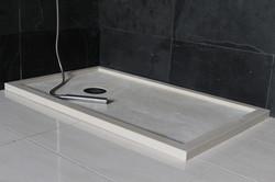 Plato de ducha crema