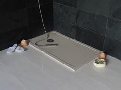 Plato de ducha micromarmol crema