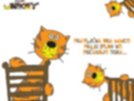 Pravljična ura babice pra, ki sploh ne pričakuje Tigra ... kartica