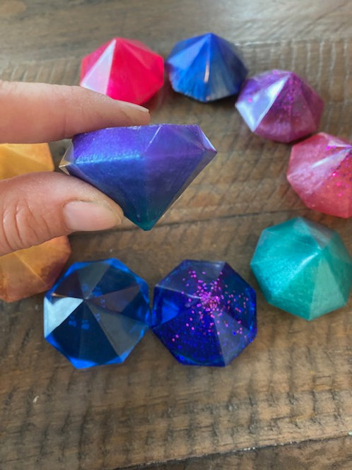 Collection of 8 resin gems