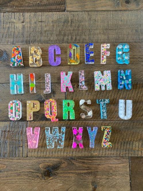 Unique Set of 26 Resin Letters