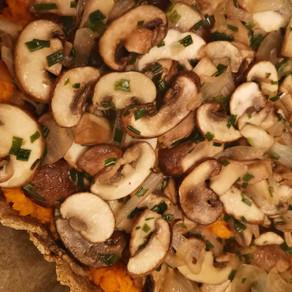 Tarte rustique butternut champignons de Paris