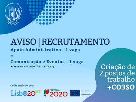 AVISO | Recrutamento n.º 02/2020 e n.º 03/2020